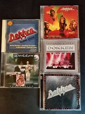 LOT OF 5 DOKKEN CDs-SHADOWLIFE +DYSFUNCTIONAL +VERY BEST +ALONE AGAIN +YESTERDAY