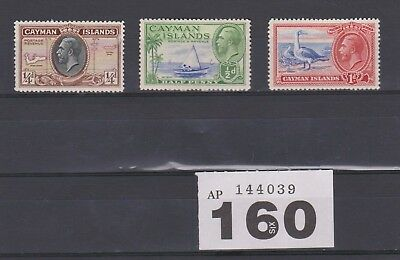 1935 CAYMAN ISLANDS 3 MINT STAMPS SG 96-98  (ref 160)