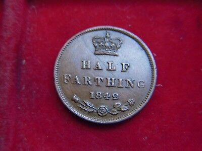 1842 Victorian Half Farthing  From My Collection [W33]