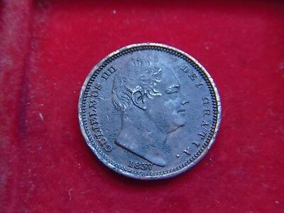 Rare 1837 William 1V Half Farthing  From My Collection [W32]