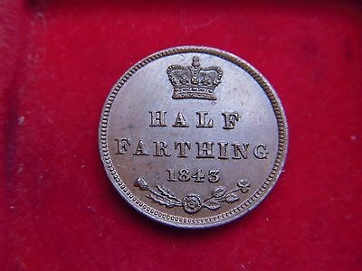 1843 Victorian Half Farthing  From My Collection [W34]