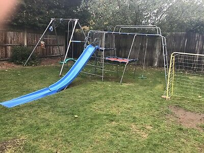 Tp climbing frame with slide and wall