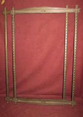 Pair Antique Bronze Architectural Theater ? Bank ? or Retail ? Sign Frames
