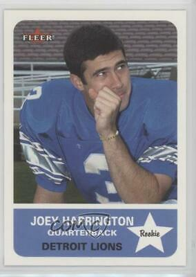 2002 Fleer Tradition #263 Joey Harrington Detroit Lions RC Rookie Football Card