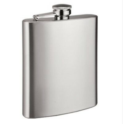 8oz Stainless Steel Hip Flask, Spirits Drinking Flask - Quality all Metal Cap