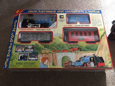 Goldlok Steam Loco Train Set Battery Operated Great Around The Christmas Tree