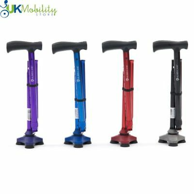 Hurrycane All-Terrain Cane Folding Walking Stick Adjustable Foldable Wrist Strap