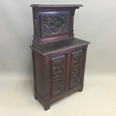 French Carved Oak Stick Stand a14957