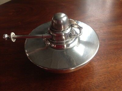 Vintage Silver Plated Spirit Burner With Wick