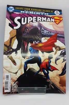 Superman #8 Escape From Dinosaur Island Part 1 DC Universe Re Birth Comic