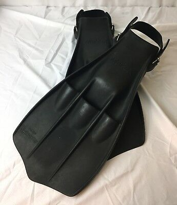 AMF MARK X Scuba Diving Snorkeling Fins Adult Flippers Strap Back Adjustable O/S