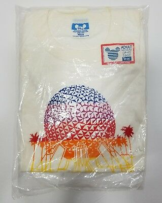 New in Bag Vintage Disney Epcot Center Mickey Mouse t-shirt 80's size Medium