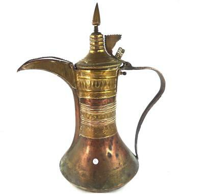 ANTIQUE MIDDLE EASTERN ARABIAN OTTOMAN DALLAH COFFEE POT LARGE SIZE a