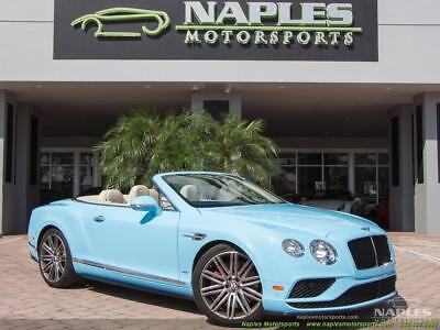 2016 Bentley Continental GT GTC V8 S 2016 Bentley Continental GT GTC V8 S - Light Sky Blue/Linen - Mulliner - Convert