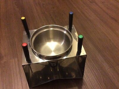 Stainless steel fondue set with 4 forks