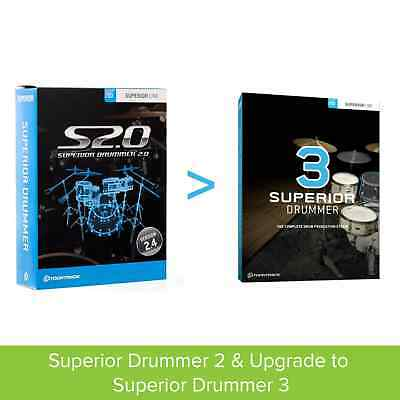 Toontrack Superior Drummer 2 & Upgrade to SD3 (Serial Download)