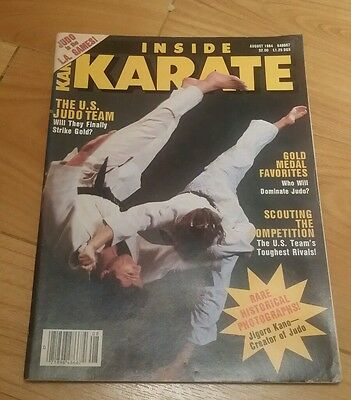 Inside Karate Martial Arts August 1984 Judo
