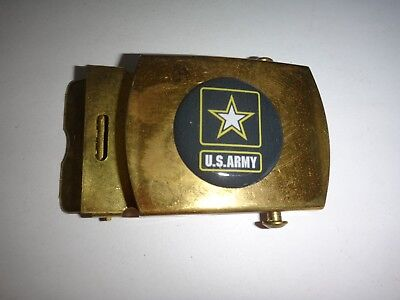 US ARMY Raised Insignia Brass Belt Buckle, Made By U.S. C.E.