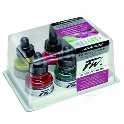 Daler Rowney FW Artists Ink Primary Colours Set