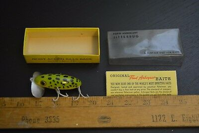 nice old fred arbogast jitterbug lure in the box akron ohio made  #2