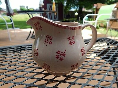 Laura Ashley for Johnson Brothers Petite Fleur  Burgundy Pink Creamer