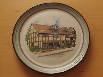Purbeck Pottery Stoneware Plate~William Shakespeare's Birthplace.