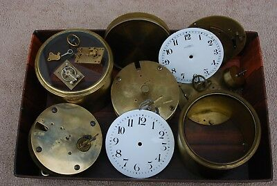 Antique French And Swiss Clock Movement Job Lot Selling For Spares Or Repair