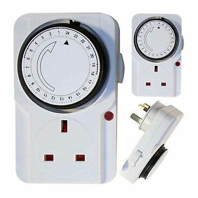 PIFCO 24 Hour Timer Programmable Mains Wall Home Socket Plug-IN Switch