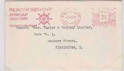 Mactaggart Scott & Co Ltd Hydraulic Engineers Loanhead Midlothian Cover Pu 1963