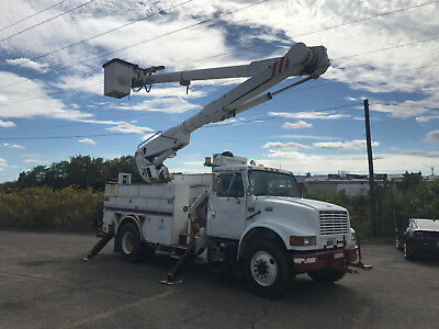 1998 International 4900 Altec 52' Bucket Boom Material Handler Truck Diesel Auto