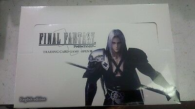 Final Fantasy Opus 3 Booster box factory sealed 36 packs