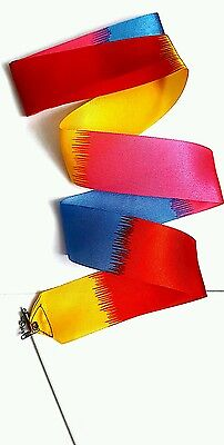 Rainbow Ribbon Dance Gym  Stick Rhythmic Art  Streamer  Baton Twirling Rod