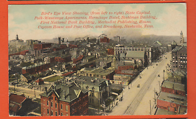 Nashville, Tn/ bird's eye view of popular bldgs that are listed/R.P.O. / pc