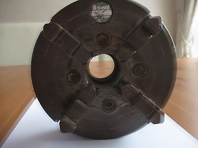 """6"""" 4 Jaw Lathe Chuck With Fitted Backplate To Fit Boxford"""