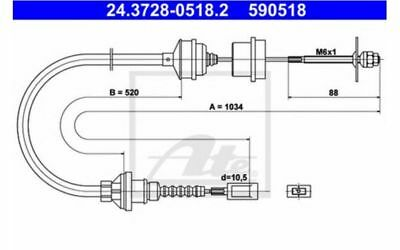 Cable d'embrayage Peugeot Boxer 2.5 DT ATE