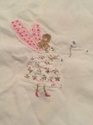 Beautiful Embroidered Cotton WHITE COMPANY Baby Girl Cot Fairy Bedding Set VGC!