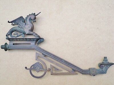 Victorian Bronze Gas Lamp Bracket With Mythical Beast