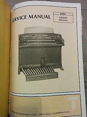 Thomas Organ Model ELDORADO 792A Service Manual