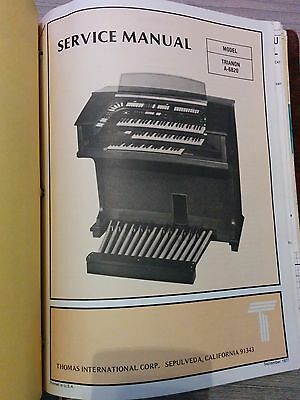 Thomas Organ Model TRIANON A-6820 Service Manual