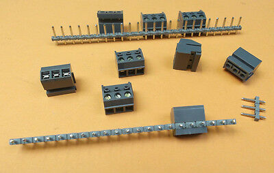 Terminal Block Plugable Pin Header & Wire Socket 3 way  x 8pcs of each pc Offers