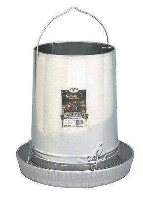 Galvanized 30 Lb. Farm-Duty Poultry Chicken Feeder - Made in USA