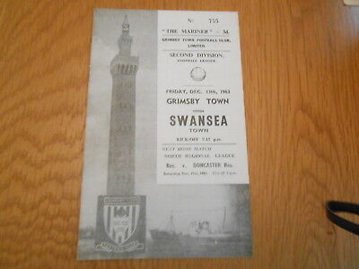 Grimsby Town V Swansea Town  13/12/1963