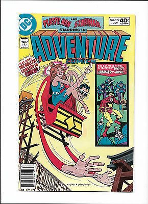 Adventure Comics #473  [1980 Fn]  Roller Coaster Cover!