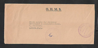 Tonga: 1970 to London without stamp, postmarked government offices.OHMS. TG070