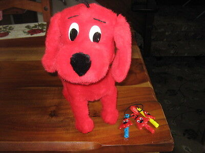 Clifford The Big Red Dog With Command Whistles (3) Alarm Sensor Barking Dog
