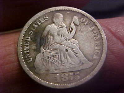 1875-S ** ABOVE BOW ** Seated Liberty Dime - Great Silver Dime - Better Date