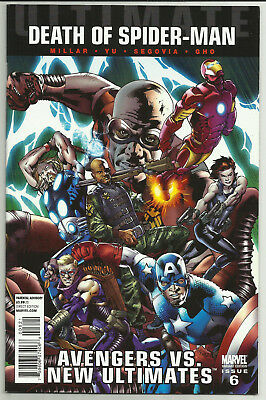 Ultimate Death of Spider-Man Avengers vs New Ultimates #6 Hitch Variant Marvel
