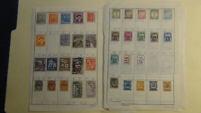 Andorra stamp collection on approval dealer pages,glassines, etc