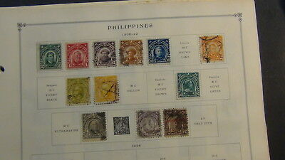 Philippines stamp collection on Scott Int'l pages to '67, glassines, etc