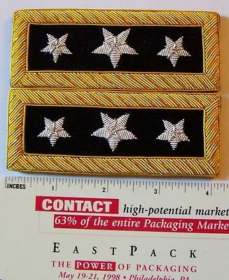 US 3 Star General Staff Officer Uniform Union Rank Army Boards Straps Civil War